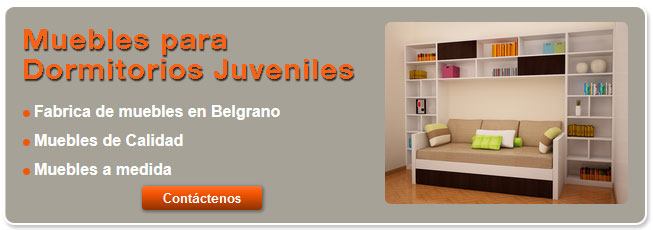 Muebles para Dormitorios Juveniles modernos Caba