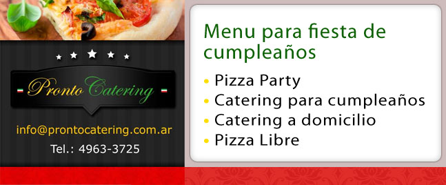 pizza party zona oeste castelar, pizza party, servicio de catering